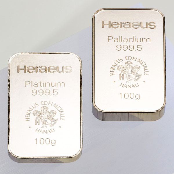 bullion, platinum bar, palladium bar